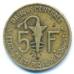 Западная Африка, 5 франков (1969 г.)