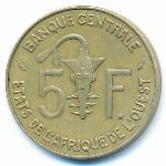 Западная Африка, 5 франков (1980 г.)