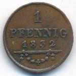 Саксен-Мейнинген, 1 пфенниг (1832 г.)
