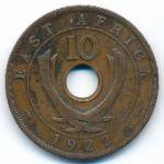 Восточная Африка, 10 центов (1922–1936 г.)