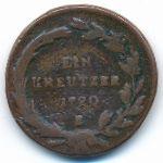 Австрия, 1 крейцер (1790 г.)