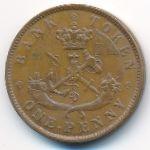 Верхняя Канада, 1 пенни (1850 г.)