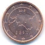 Эстония, 1 евроцент (2015 г.)