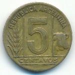 Аргентина, 5 сентаво (1944–1950 г.)