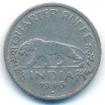 Британская Индия, 1/4 рупии (1946 г.)