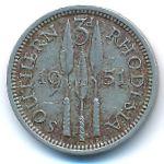 Южная Родезия, 3 пенса (1949–1952 г.)