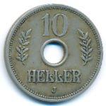 Немецкая Африка, 10 геллеров (1908–1909 г.)