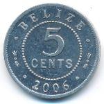 Белиз, 5 центов (1989–2006 г.)