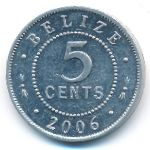 Белиз, 5 центов (2006 г.)