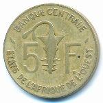 Западная Африка, 5 франков (1981 г.)