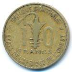 Западная Африка, 10 франков (1967 г.)