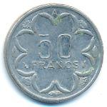 Центральная Африка, 50 франков (1976–1996 г.)