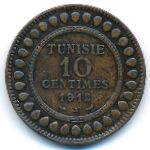 Тунис, 10 сентим (1911–1917 г.)