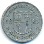 Маврикий, 1 рупия (1987–2009 г.)