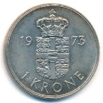 Дания, 1 крона (1973–1978 г.)
