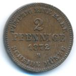Мекленбург-Шверин, 2 пфеннига (1872 г.)