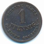 Саксен-Кобург-Гота, 1 пфенниг (1870 г.)