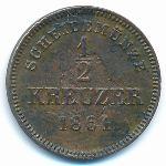 Вюртемберг, 1/2 крейцера (1861 г.)
