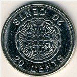Solomon Islands, 20 cents, 1987–2008