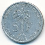 Руанда-Урунди, 5 франков (1956–1958 г.)