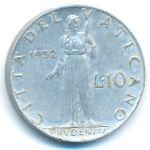 Ватикан, 10 лир (1952–1953 г.)