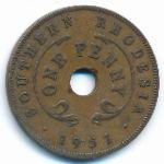 Южная Родезия, 1 пенни (1950–1952 г.)