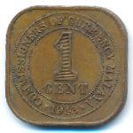 Малайя, 1 цент (1943 г.)