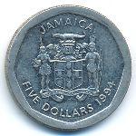 Ямайка, 5 долларов (1994–1996 г.)