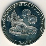Congo Democratic Repablic, 5 francs, 2002