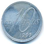 Бразилия, 10 крузейро (1965 г.)