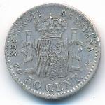 Испания, 50 сентимо (1904 г.)