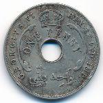 Британская Западная Африка, 1 пенни (1937–1947 г.)