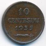 Сан-Марино, 10 чентезимо (1935 г.)