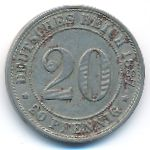 Германия, 20 пфеннигов (1887–1888 г.)