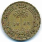 Британская Западная Африка, 1 шиллинг (1943 г.)