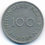 Саар, 100 франков (1955 г.)