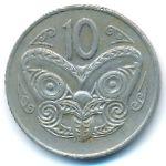 Новая Зеландия, 10 центов (1970–1982 г.)