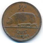 Ирландия, 1/2 пенни (1939–1946 г.)