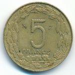 Центральная Африка, 5 франков (1976 г.)