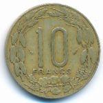 Центральная Африка, 10 франков (1977–1985 г.)
