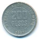 Колумбия, 200 песо (2007 г.)