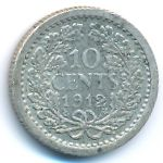 Нидерланды, 10 центов (1912 г.)