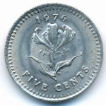 Родезия, 5 центов (1976 г.)