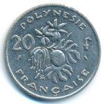 Французская Полинезия, 20 франков (1973 г.)