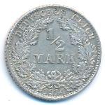 Германия, 1/2 марки (1905–1917 г.)