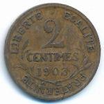 Франция, 2 сентима (1903 г.)