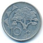 Намибия, 10 центов (1993–2012 г.)