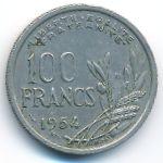Франция, 100 франков (1954 г.)