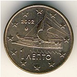 Greece, 1 euro cent, 2002–2017