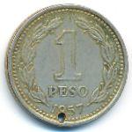 Аргентина, 1 песо (1957 г.)